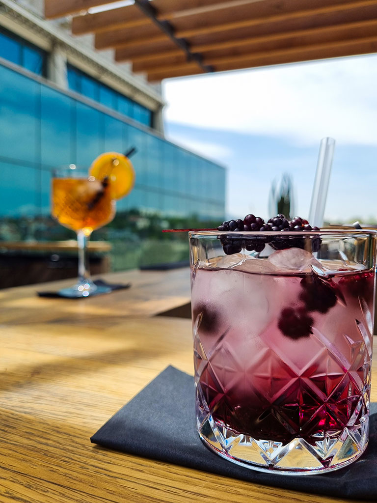 Coctails Rooftop bar Hotel Arka